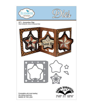 Elizabeth Craft Designs Pop It Up Accordian Star Metal Dies