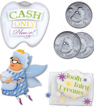 Karen Foster Stacked Stickers-5PK/Tooth Fairy