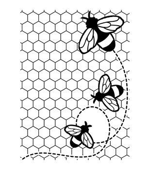 Darice Bees Buzzing Embossing Folder
