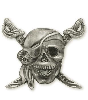 Concho Antique Silver 1.25'' Screwback-Pirate