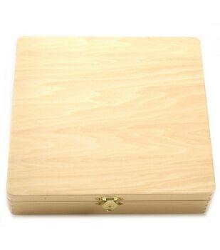 Lacquered Cigar Box-8-3/8''X8-1/16''X1-3/4''