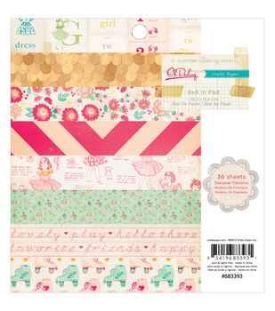 """Oh Darling paper Pad 6""""X6"""" 36/Sheets-Single-Sided"""