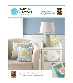 "Martha Stewart Adhesive Silkscreen 8-1/2""X11"" 1 Sheet/Pkg-Damask 5 Designs"