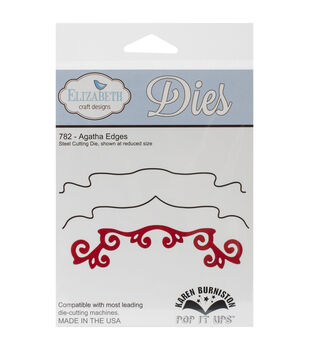 Elizabeth Craft Designs Pop It Up Metal Agatha Edges Dies