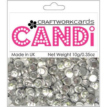Craftwork Cards Candi Dot Printed Embellishments Crushed Ice