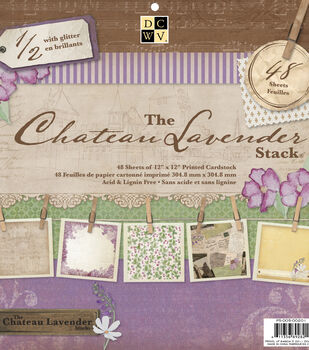 Die Cuts With A View Chateau Lavender Premium Cardstock Printed
