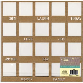 Jillibean Soup Placemats Die-Cut Cardstock Kraft Mini Journaling Frames