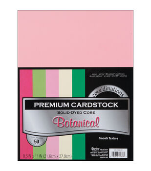 "Cardstock 8.5""X11"" 50/Pkg-Botanical-Smooth"