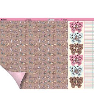 "Kanban Crafts Dawn Bibby 2-Sided Cardstock 12""X12""-Butterflies"
