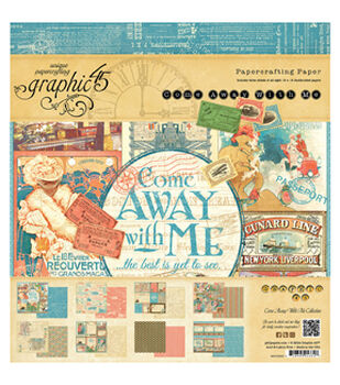 """Graphic 45 Paper Pad 8""""X8"""" 24/Pkg-Come Away With Me"""
