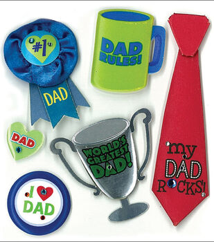 Jolee's Boutique Dimensional Stickers-No 1 Dad