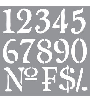 Decoart Olde Numbers - American Decor Stencil