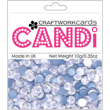 Craftwork Cards Candi Dot Printed Embellishments Afternoon Tea
