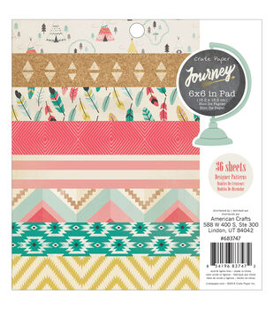Crate Paper Journey Paper Pad 6''x6''