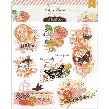Pink Paislee Cottage Farms Press Ons
