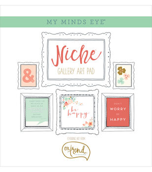 My Mind's Eye Niche On Trend Foiled Frameables Gallery Art Paper Pad