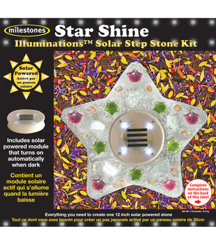 Mosaic Stepping Stone Kit-Star Shine Glow Illumionations Solar