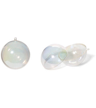 Darice Hanging Plastic Ball Ornament 100mm-Aurora Borealis Finish