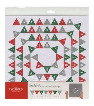 American Crafts Christmas Banner Flutterbys Paper Garland