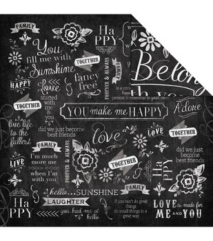 Adorn-It You & Me Belong Together Double-Sided Cardstock