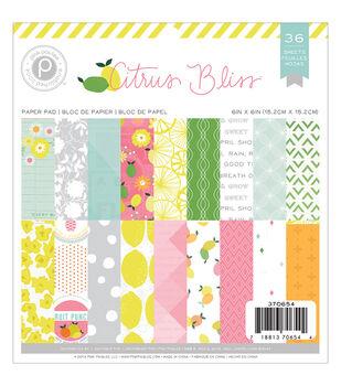 Pink Paislee Citrus Bliss Paper Pad 6''x6''
