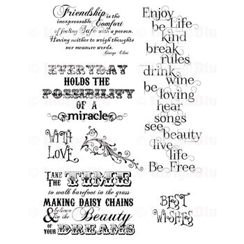 IndigoBlu Cling Mounted Stamp Enjoy Life