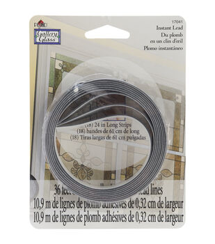 """Gallery Glass Instant Lead Lines 24"""" 8/Pkg-Black 1/8"""" Thick"""