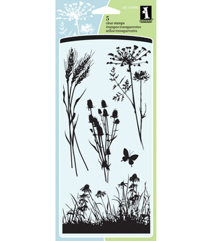 "Inkadinkado Clear Stamps 4""X8"" Sheet-Meadow"