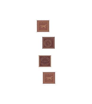 Postage Stamps Wood Embellishments