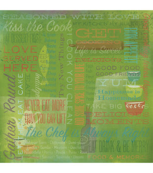 "Kiss the Cook - Kitchen Paper 12""x12"""