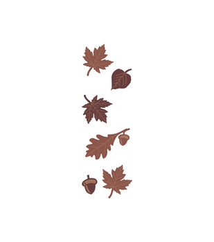 Leaves Wood Embellishments