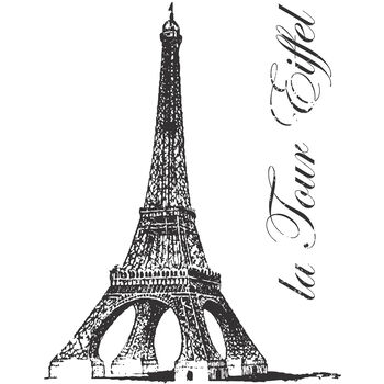 Wrights Naturally Chic Iron-On Transfers La Tour Eiffel