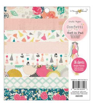 Crate Paper Maggie Holmes Confetti Paper Pad 6''x6''
