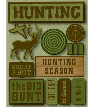 Reminsce Signature Dimensional Stickers-Hunting
