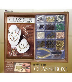 Cousin Jewelry Class In A Box Kit Naturals Glass