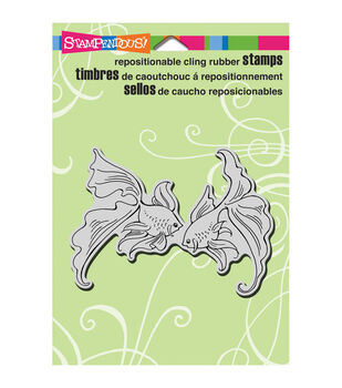 Stampendous Goldfish Pair Cling Rubber Stamp