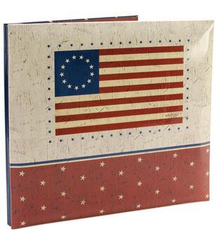12''x12'' Postbound Album-American Flag
