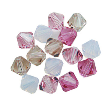 6mm Create Your Style Swarovski Bicone Beads-Pink Mix 15/pk