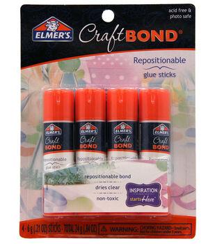 Elmer's Repositionable Glue Sticks 4/Pkg-.21oz