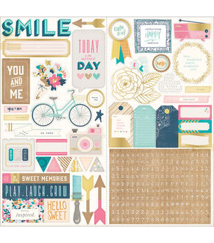 Crate Paper Craft Market Journaling & Title Cardstock Stickers