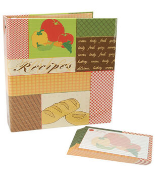 5''x7'' Family Recipes 3-Ring Scrapbook Kit-Patchwork