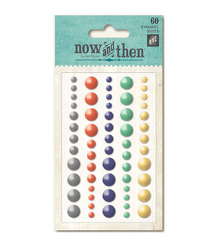 Now & Then Izzy Adhesive Enamel Dots 60/Pkg-Happenings