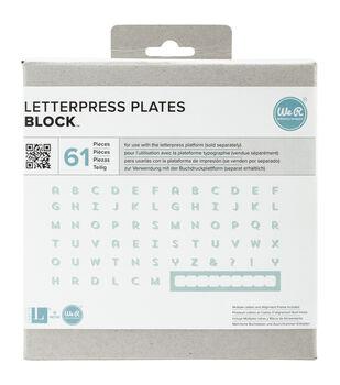 Lifestyle Letterpress Plates-Block