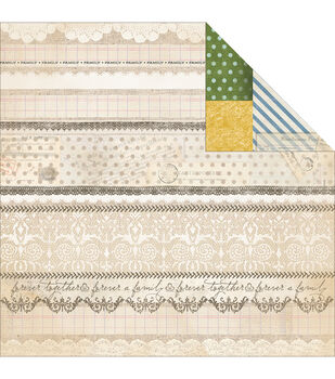 Adorn-It Wisteria Wisteria Lace Double-Sided Cardstock