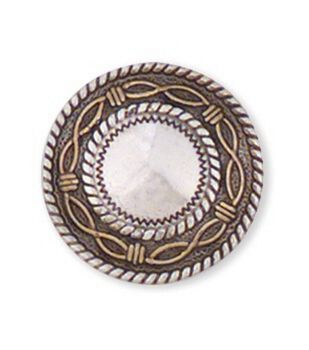 Leather Factory 1'' Angel Fire Round Concho-1PK/Silver Screwback