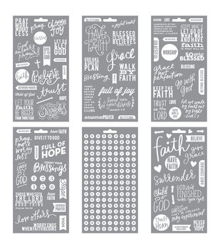 Me & My Big Ideas Pocket Pages Clear Stickers 6 Sheets/Pkg-Faith