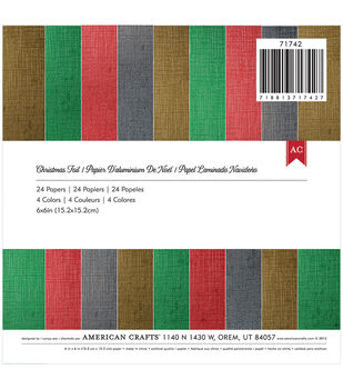 American Crafts Christmas Foil Paper Pad