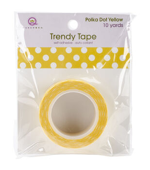 Trendy Tape Core Collection 15mmX10yd-Polka Dot Yellow