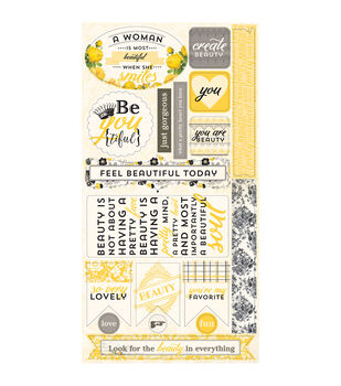 """Beauty Cardstock Die-Cuts 6""""X12""""-Components Accents"""
