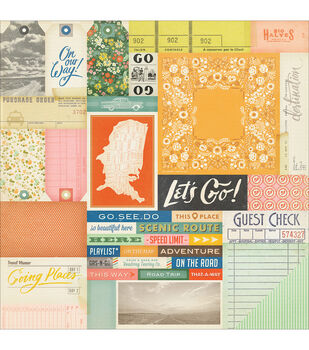 """Open Road Double-Sided Cardstock 12""""X12""""-Road Map"""